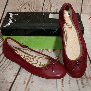 Sam Edelman Felicia Leather Ballet Flats Beet Red